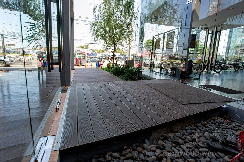 wpc decking hollow composite decking | composite floor