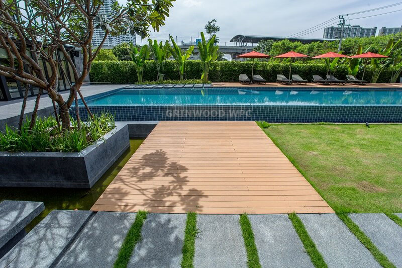 Moistureproof with 15 years warranty wpc | wood plastic deck
